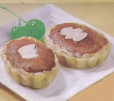 Resep Chocolate Almond Egg Tart