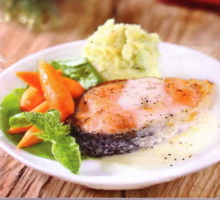 Resep Steak Salmon Saus Putih