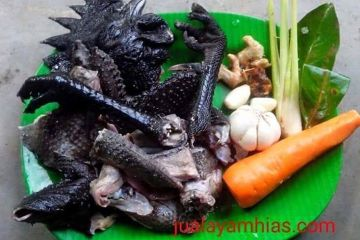 Cemani chicken meat