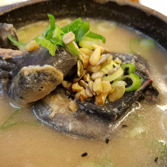 Korean cemani black soup