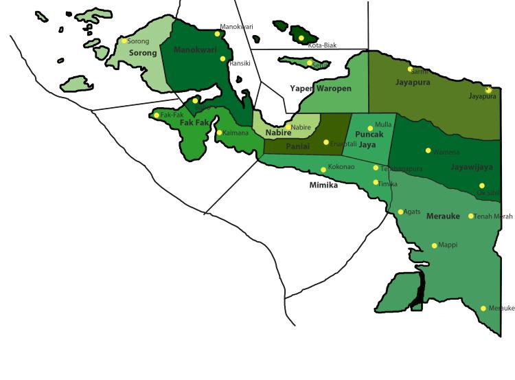 Daftar Harga DOD Bebek Hibrida untuk wilayah Pulau Papua
