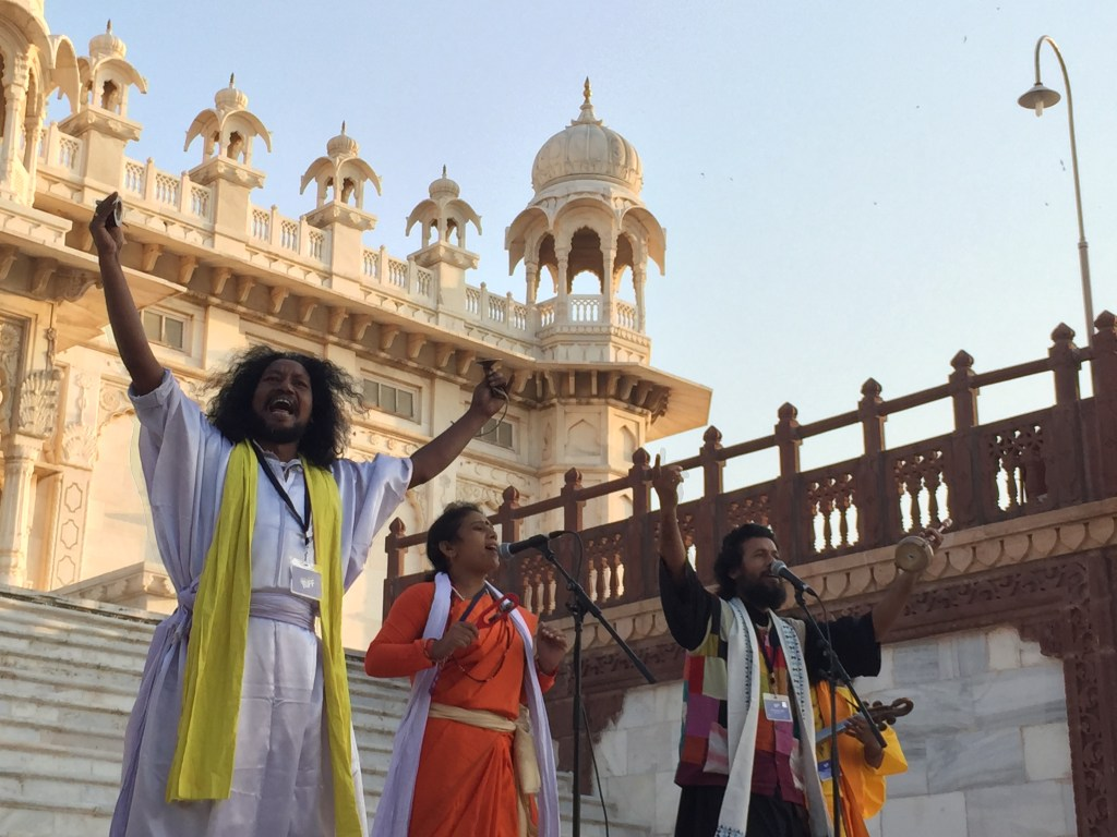 bengali sufi singers at jaswant thada on the day or Rajasthan International folk festival (RIFF) Dawns