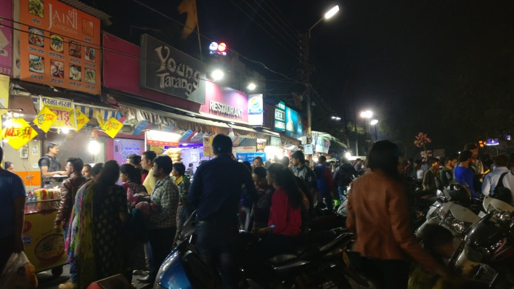Image of Chappan Indore famous street food market in Indore or Chappan Dukan Indore