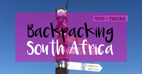 South Africa backpacking trip tips and tricks featured image
