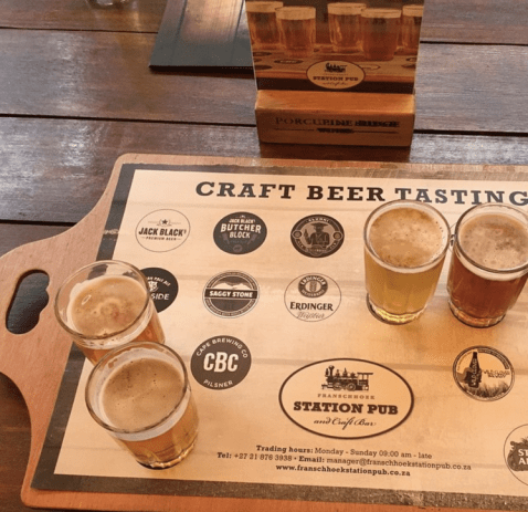 things to do in Cape Town - craft beer tasting franschhoek things to do in cape town