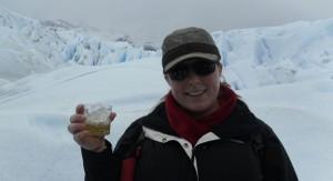 El Calafate, Argentina:  Traditional whiskey over glacier ice after trekking Perito Moreno Glacier