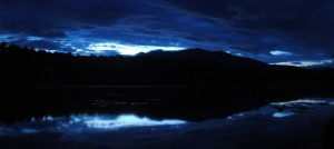 A little different shot I got of Katahdin later Saturday night, again from our campground. Beautiful Northern Maine skies unaltered by lights or pollution.