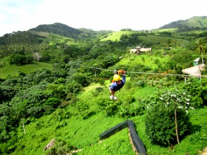 We took 4 weeks off for our wedding and honeymoon including this zip-lining in the Dominican Republic. You're absolutely free to take whatever time off you want between assignments, but no PTO.