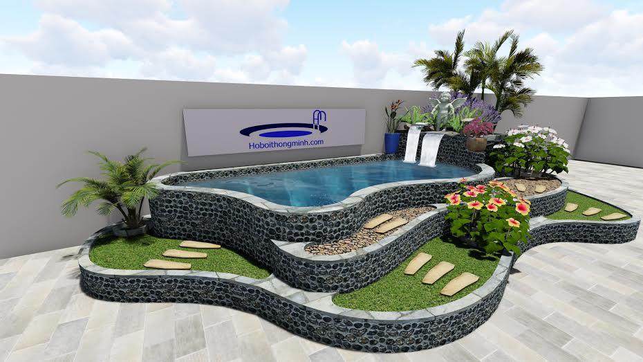 Thiết kế bể bơi gia đình đẹp tại hoboithongminh.com
