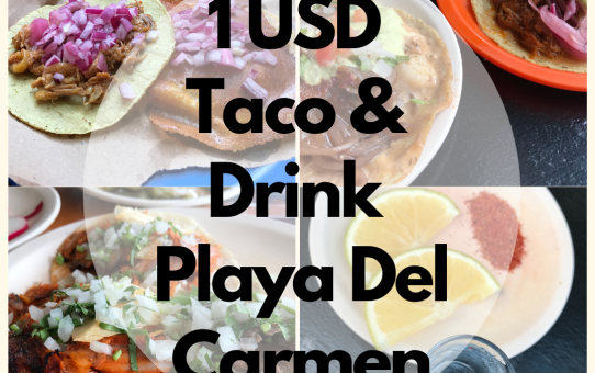 1 USD TACO & 1 USD Adult Drinks Lover's Guide for Playa Del Carmen, Mexico 2021