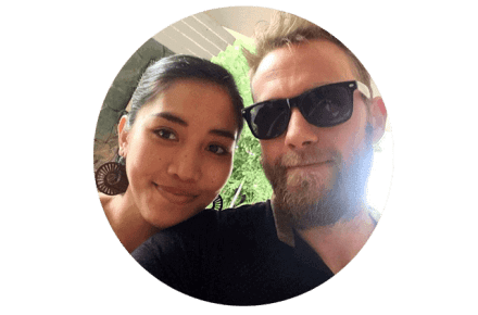 Mike Hulleman and his Wife, Oshin