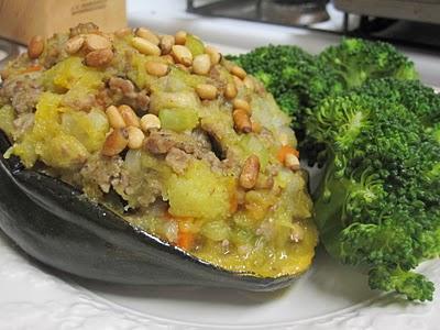 twice baked paleo acorn squash