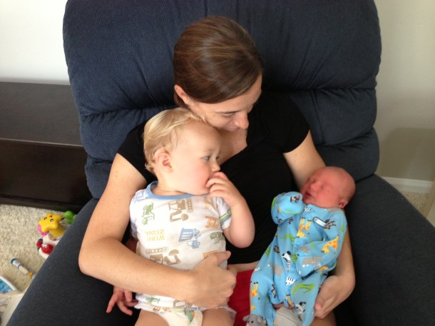 mom and boys beau newborn