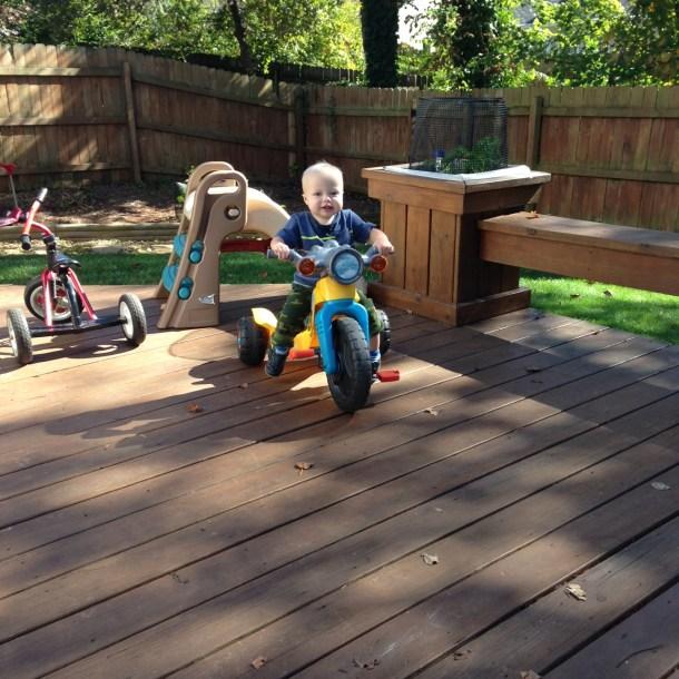 beau motorcycle deck