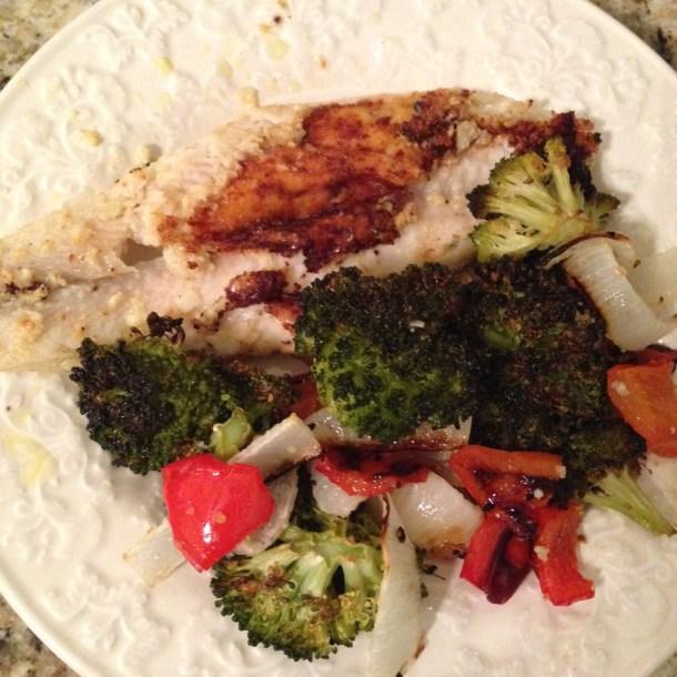 fish and veggies dinner