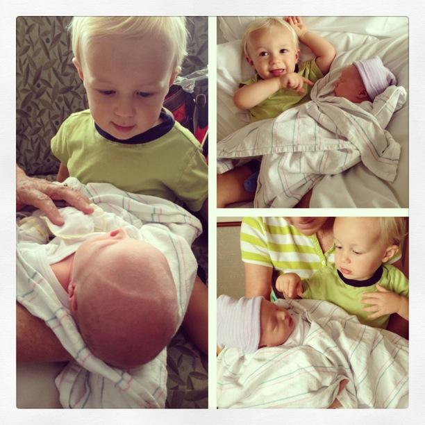 jm holding newborn beau