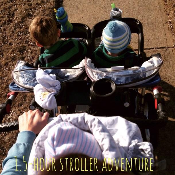 stroller walk with all three
