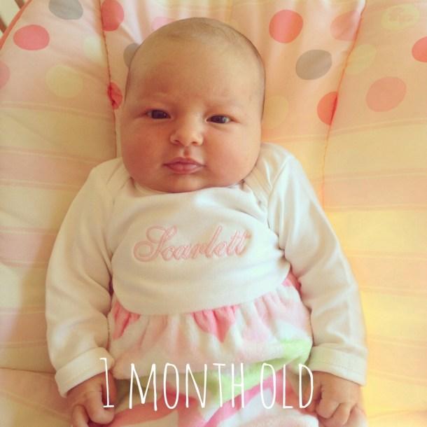 scarlett 1 month