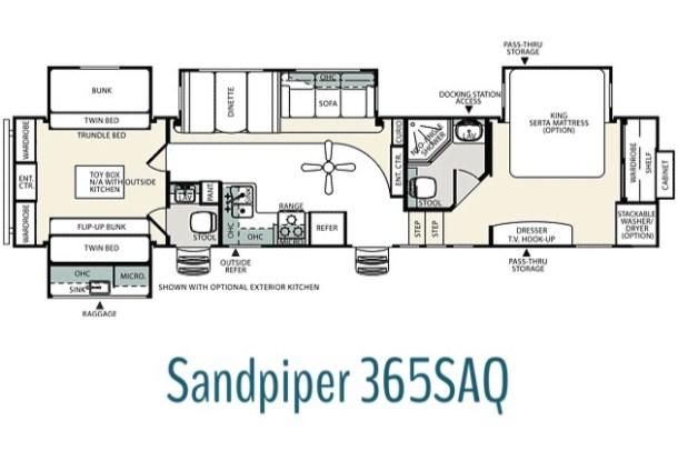 sandpiper 365SAQ floorplan