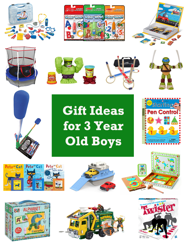 15 Gift Ideas for 3 Year Old Boys | Hobson Homestead