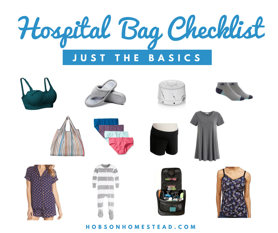 My Hospital Bag Checklist: Just the Basics