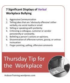 BPost - Thursday Tip 07-30-15 Bullying