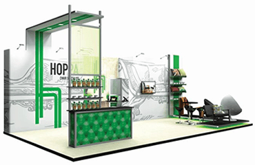 Corner Exhibition Stands Up : Exhibition stands showcase your company hobs repro