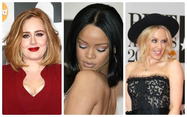 Три самых ярких макияжа красной дорожки BRIT Awards-2016: Адель, Рианна и Кайли Миноуг