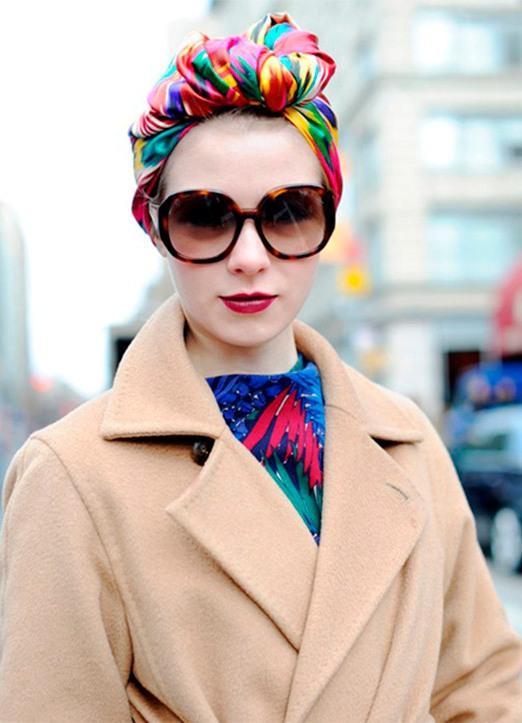платок на голову плетение впереди