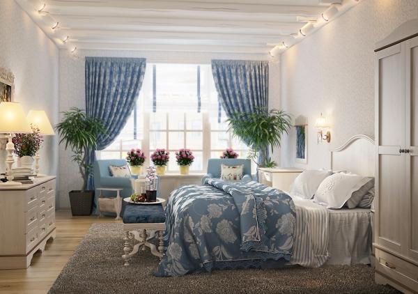 шторы в интерьере спальни фото