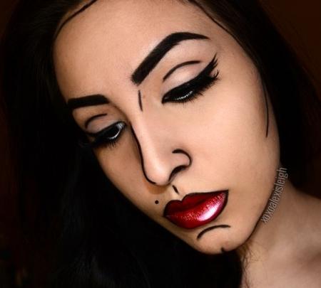 макияж на хєлоуин в домашних условиях