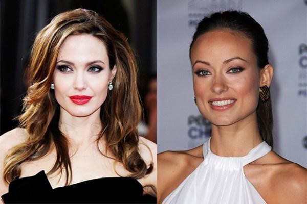 Анджелина Джоли брови