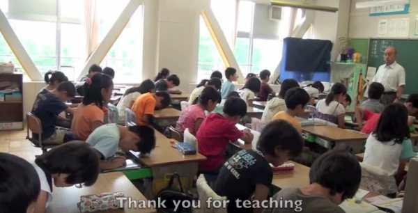 дети в японской школе