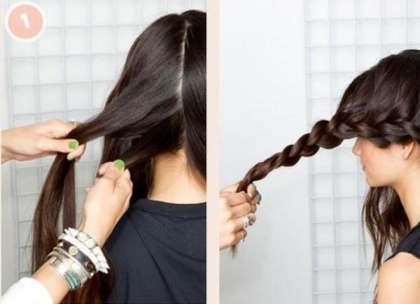 коса вокруг головы как сделать