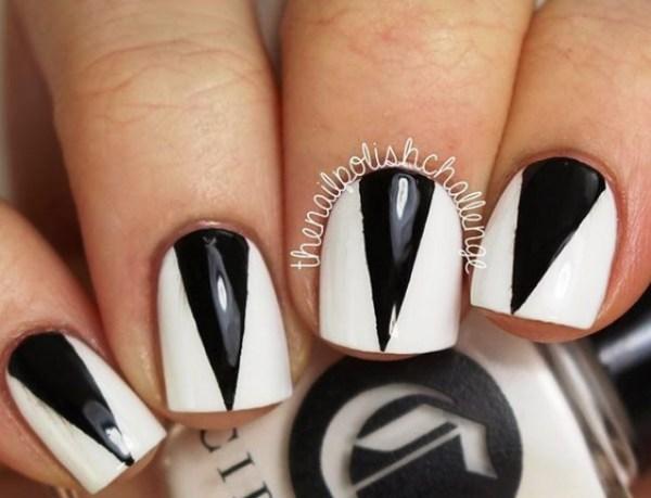 Маникюр с треугольниками: 40 лучших идей модного дизайна ногтей (фото)