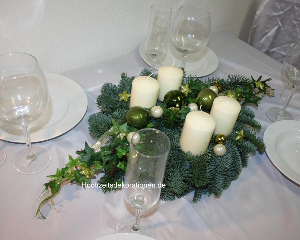 Adventskranz grün-creme edel gold ,silber und Glitzer Weihnachten Shop Hochzeitsdekorationen