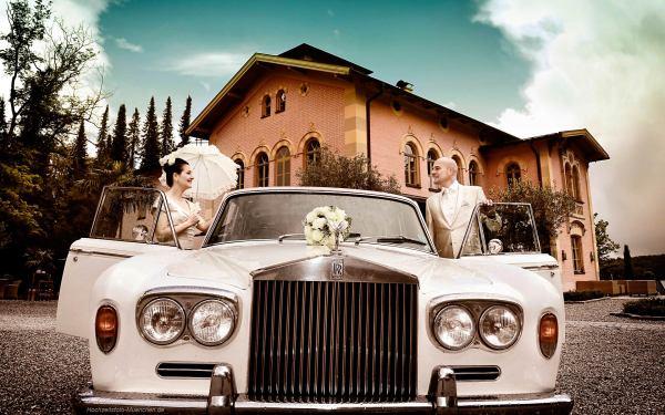 Fotoshooting Hochzeit 20: Rolls Royce als Hochzeitsauto