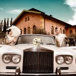 Hochzeitsfoto mit Rolls Royce