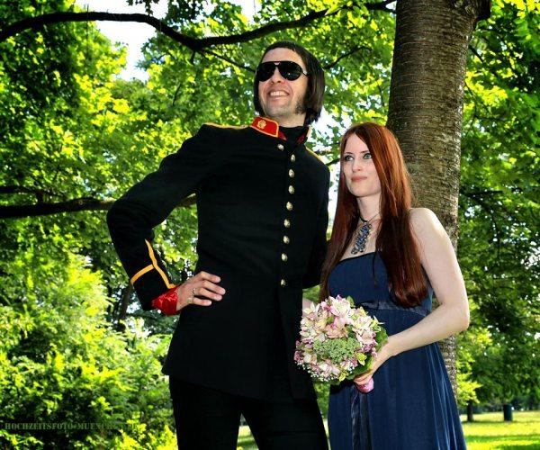 Fotoshooting Hochzeit 10: Hochzeitsporträt im Englischen Garten