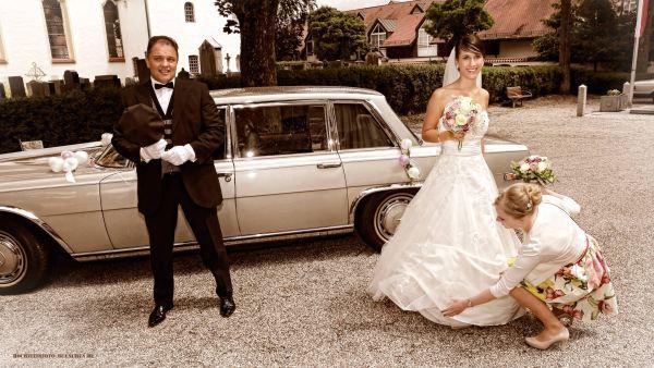 Ankunft der Braut zur Trauung