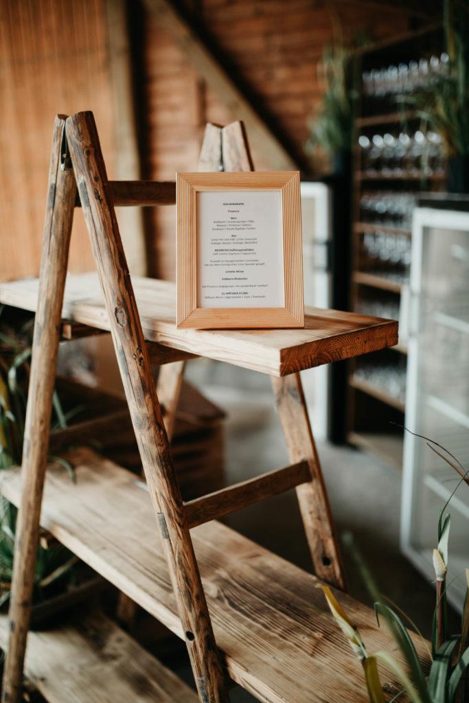 Hochzeitsfotografie - Holzdeko