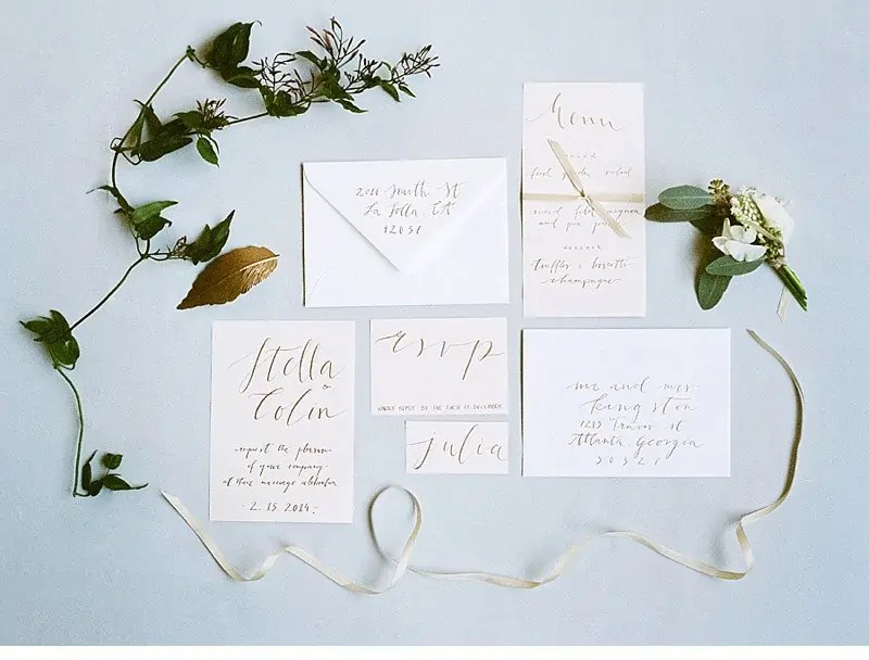 calligraphy wedding invitation 0033