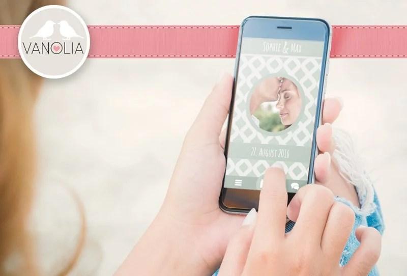 Vanolia, die neue interaktive Hochzeitsapp mit individuellem Design