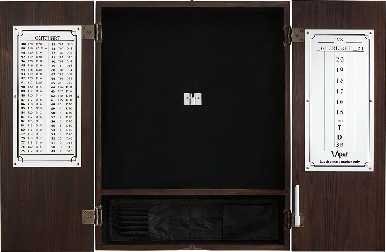 Viper Metropolitan Sisal Bristle Steel Tip Dartboard & Cabinet Bundle