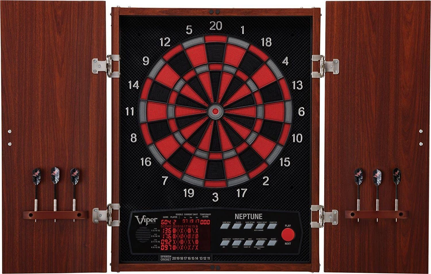 Viper Neptune Electronic Soft Tip Dartboard with Cabinet