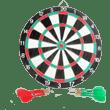 wooden-dart-board