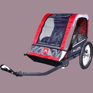 Allen-Sports-Deluxe-2-Child-Steel-Bicycle-Trailer,-Red