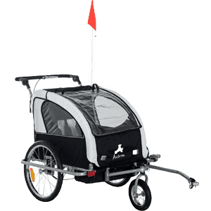 Aosom-Elite-II-3in1-Double-Child-Bike-Trailer