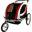 Clevr-2-in-1-collapsible-2-Seater-Baby-Stroller-Jogger-or-Bicycle-Trailer
