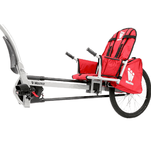 Weehoo-Kids-Turbo-Bicycle-Trailer,-Red-andBlack,-One-Size